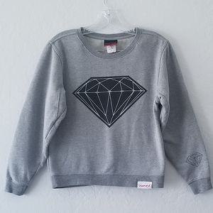 Diamond Supply Co Gray Crew Neck Sweater